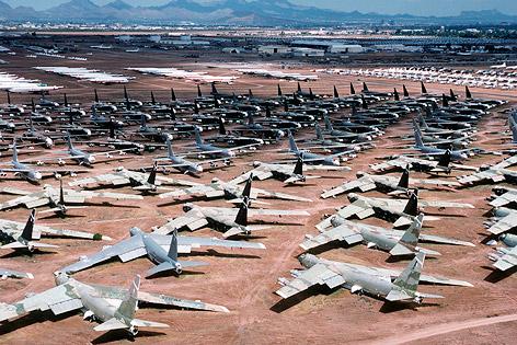 """Das als """"Boneyard"""" bekannte Aerospace Maintenance and Regeneration Center in Tucson"""
