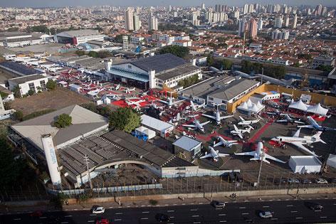 Blick über Flughafen von Sao Paulo