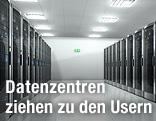 Datencenter mit vielen Server