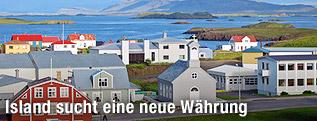 Isländische Stadt Stykkisholmur