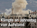 Rauch über der Stadt Idlib