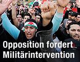 Demonstranten gegen das Assad-Regime