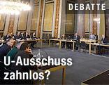 Blick in den Budgetsaal des Parlaments
