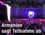 Innenansicht der Halle beim Song Contest 2011 in Deutschland