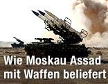 Luftabwehrsystem bei einer Übung in Syrien