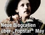 """Ausschnitt vom Buchcover der May-Biografie """"Karl May: oder Die Macht der Phantasie"""""""