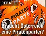 Fähnchen mit Logo der Piratenpartei