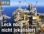 Luftaufnahme einer Gasplattform des Total-Konzerns in der Nordsee