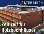 Mehrgeschoßige Wohnanlage aus Holz im Innsbrucker O-Dorf