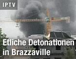 Rauchwolken über Brazzaville