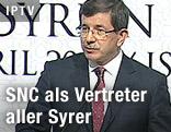 Der türkische Außenminister Ahmet Davutoglu