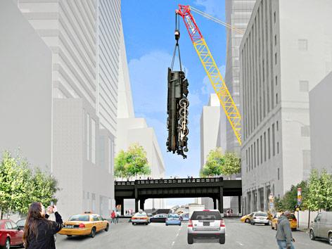 Gerendertes Bild des High Line Parks