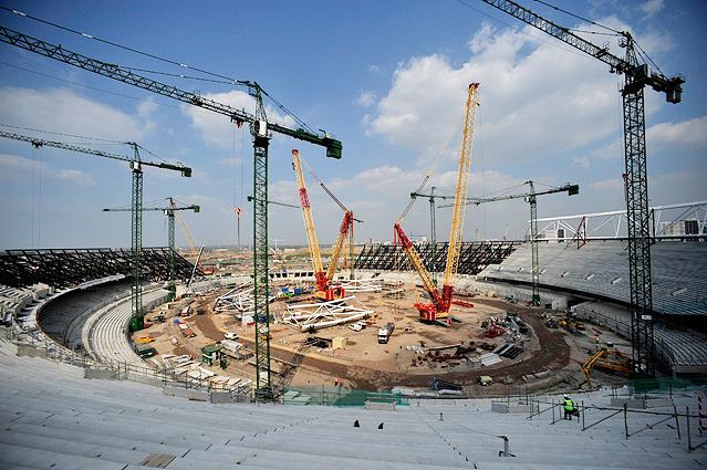Entstehung des Londoner Olympic Stadium