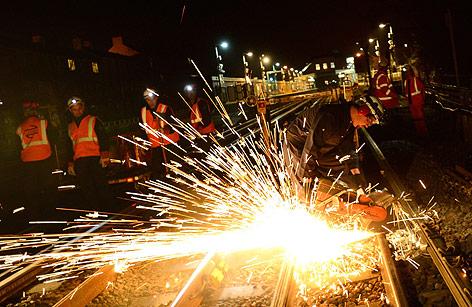 Londoner U-Bahn Arbeiter