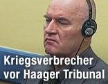 Ratko Mladic vor dem Haager UNO-Tribunal