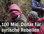 Syrische Rebellen im Dickicht