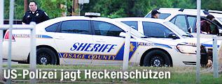 Polizeiauto und Polizist des Osage County Sheriff Department