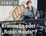 Polizist räumt besetztes Haus in Wien