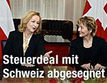 Finanzministerin Maria Fekter mit der Schweizer Finanzministerin Eveline Widmer-Schlumpf