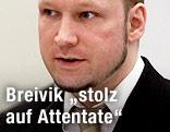 Anders Breivik im Gerichtssaal