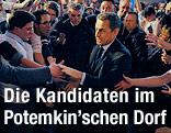 Nicolas Sarkozy schüttelt Hände