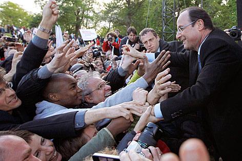 Francois Hollande, Kandidat der sozialistischen Opposition