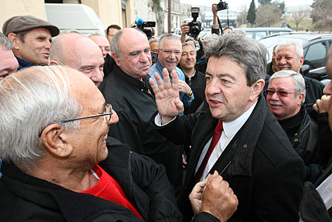 Jean-Luc Melenchon, Kandidat der Linkspartei zur Präsidentenwahl in Frankreich
