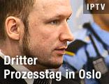 Norwegischer Attentäter Breivik im Gerichtssaal