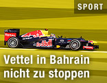 Sebastian Vettel auf der Rennstrecke in Bahrain
