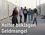 Syrische Flüchtlinge in einem Flüchtlingscamp in der Türkei