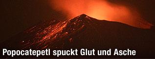 Ausbruch des mexikanischen Vulkans Popocatepetl
