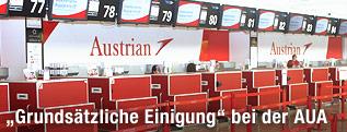 Check-In-Berein am Flughafen