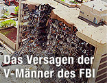 Alfred Murrah Federal Building in Oklahoma City nach der Explosion
