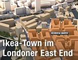 """Screenshot zeigt Modell des geplanten """"Strand East"""""""