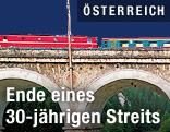 Blick auf die Semmeringbahn-Strecke