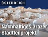 Modell des neuen Grazer Stadtteilzentrums