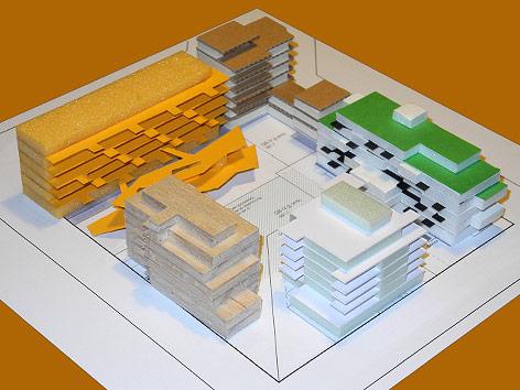 Modell eines Stadtteils