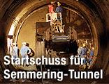 Arbeiten am Sondierstollen des Semmering-Basistunnels