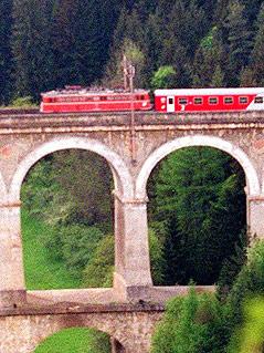 Teilstück der Ghega-Bahn-Strecke am Semmering