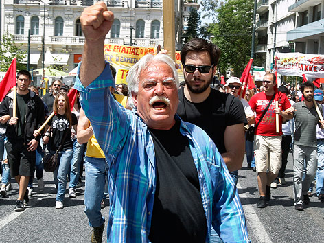 Demonstrant in Athen