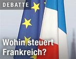 Französische und EU-Flagge