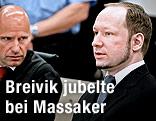 Anders Behring Breivik mit seinem Anwalt Geir Lippestad
