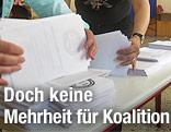 Wahlzettel werden ausgezählt