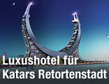 Rendering eines Luxushotel-Komplexes in Katar