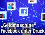 Schematische Darstellung der Facebook-Vernetzung