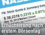 Screenshot von Facebook Börsenkurs
