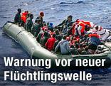 Flüchtlingsboot vor Malta