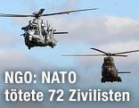 NATO-Hubschrauber in der Luft