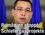 Ministerpräsident von Rumänien Victor Ponta