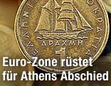Griechische Ein-Drachme-Münze